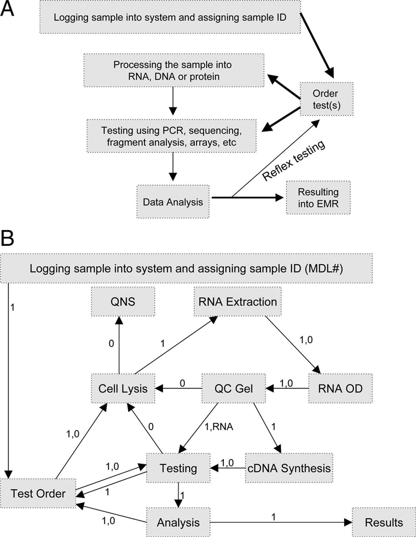 modeling complex workflow in molecular diagnostics the journal of
