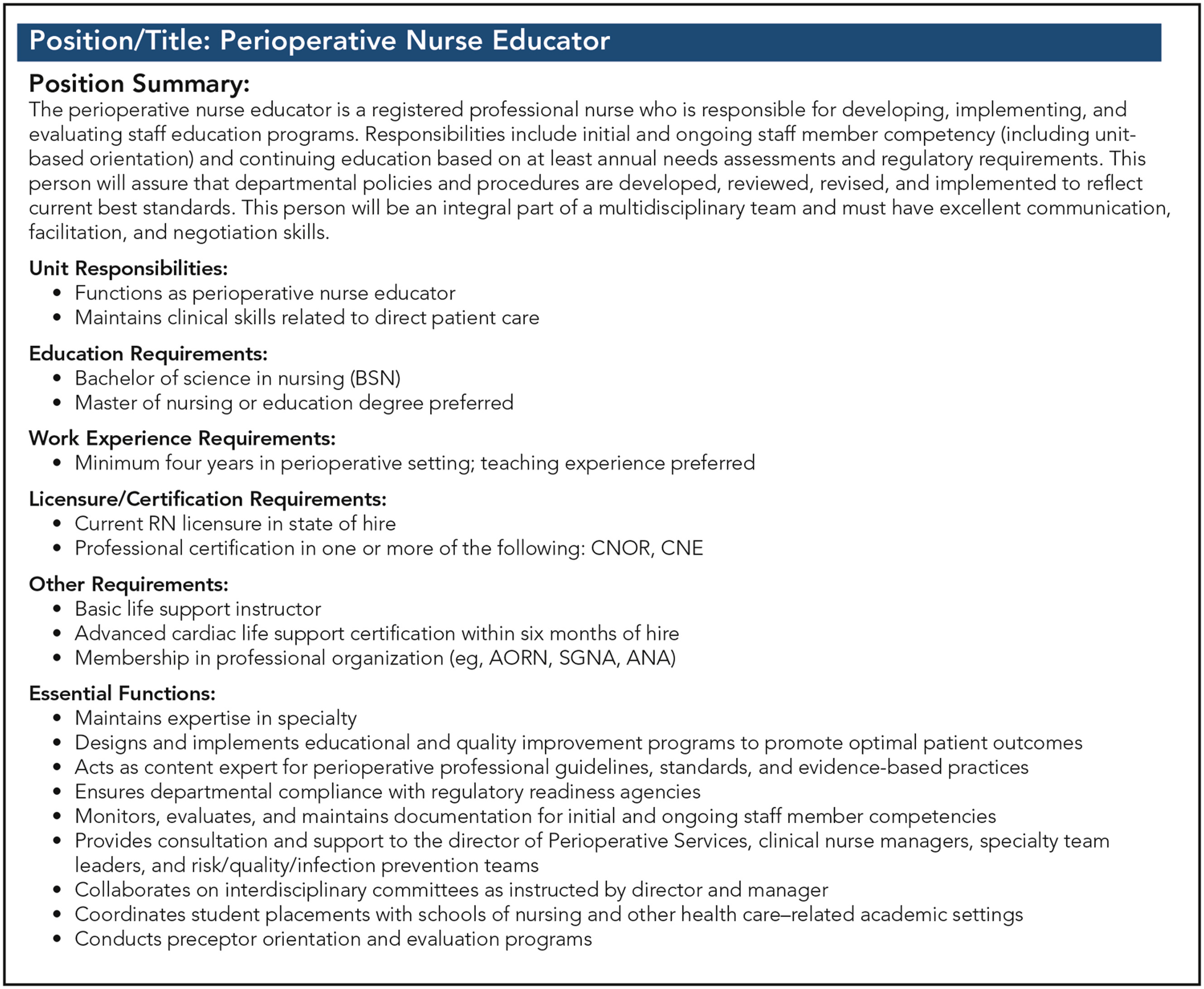 Transitioning from perioperative staff nurse to perioperative view hi res 1betcityfo Choice Image